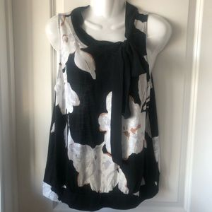 Anthropologie sleeveless Floral Top size L